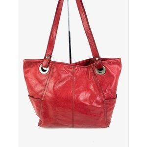 Fossil Hathaway Tote Bag Red Glazed Leather